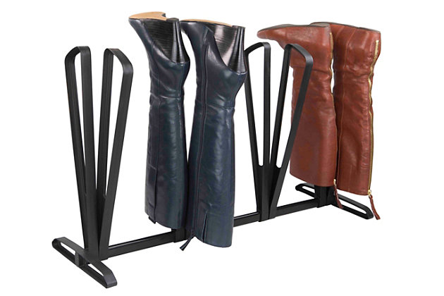 Contemporary Four Pair Adjustable Boot Rack, , large