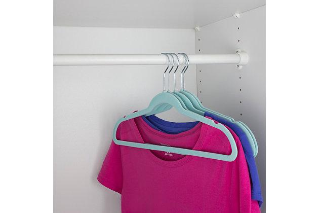 Contemporary Velvet Hangers (Set of 10), Sky Blue, large