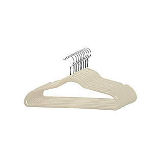Contemporary Velvet Hangers (Set of 25), Ivory, large