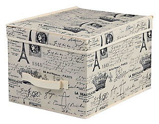 Postcards from Paris Large Storage Box, , large