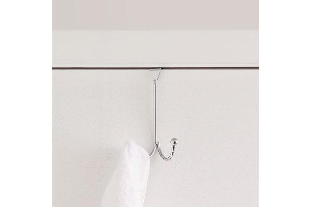 Over-the-Door Double Hook Over the Door Hanging Rack, , large