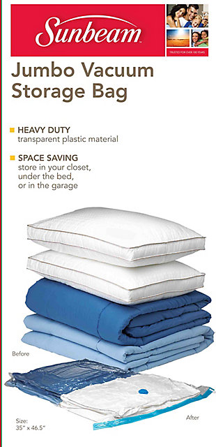 Sunbeam Sunbeam Jumbo Space-Saving Vacuum Storage Bag, , large