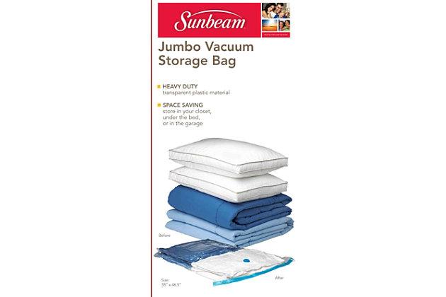 Sunbeam Sunbeam Jumbo Space-Saving Vacuum Storage Bag, , large
