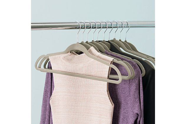 Contemporary Velvet Hangers (Set of 10), , large