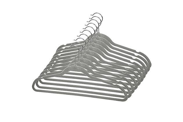 Contemporary Velvet Hangers (Set of 10), , large