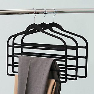 Contemporary Velvet Trouser Hangers (Set of 3), , rollover