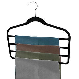 Contemporary Velvet Trouser Hangers (Set of 3), , large