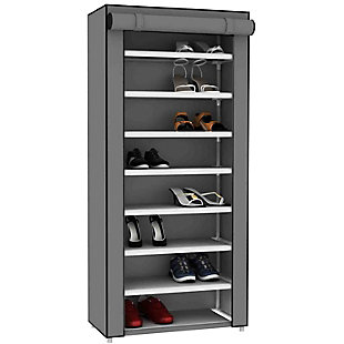 Contemporary Portable 24 Pair Shoe Rack, , large