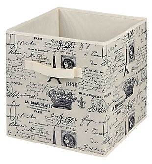Postcards from Paris Storage Bin, , large
