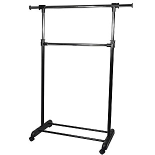 Contemporary 2 Tier Expandable Garment Rack, , large