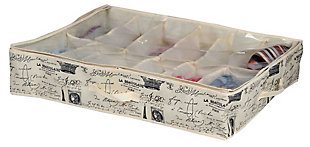 Postcards from Paris 12 Pair Under-the-Bed Shoe Box, , large