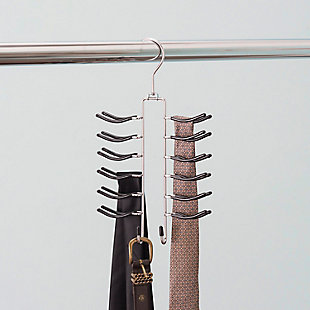 Sunbeam Sunbeam Six Tier Tie Hanger w/ Accessory Hooks, , rollover