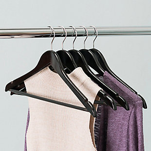 Contemporary Non-Slip Wood Hangers (Set of 5), , rollover