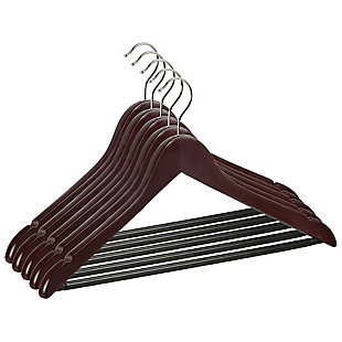 Contemporary Non-Slip Wood Hangers (Set of 5), , large