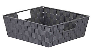 Contemporary Polyester Small Woven Strap Open Bin, , large