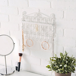 Contemporary Wall Mounted Jewelry and Accessory Storage Rack, , rollover