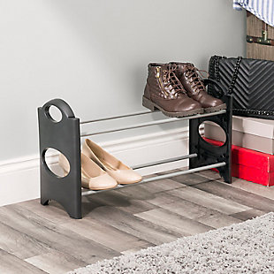 Contemporary Six Pair Shoe Rack, , rollover