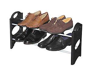 Contemporary Six Pair Shoe Rack, , large