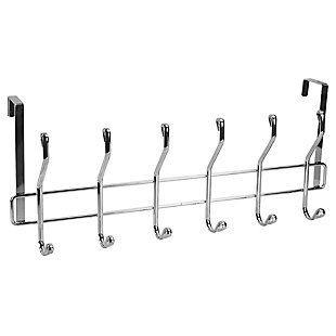 Over-the-Door Six Hook Over the Door Hanging Rack, , large