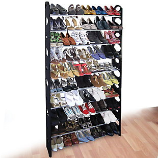 Contemporary 50 Pair Shoe Rack, , rollover