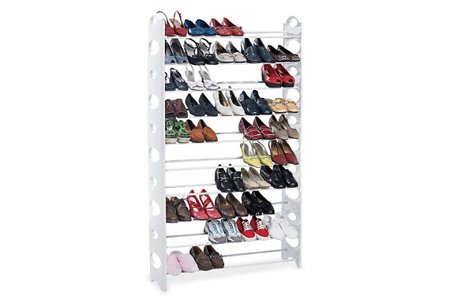 Contemporary 50 Pair Shoe Rack, , large