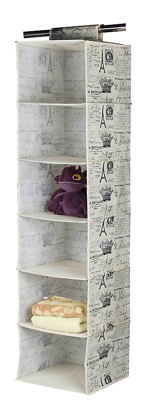 Postcards from Paris Six Shelf Closet Organizer, , large