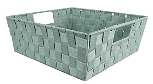 Contemporary Polyester Large Woven Strap Open Bin, , large