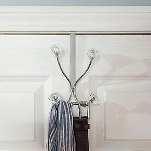 Over-the-Door Double Hook Over the Door Hanging Rack, , rollover