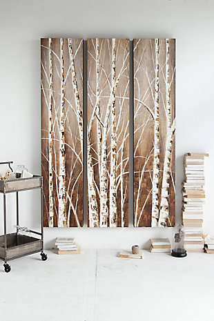 Home Accents Birch Tree Wall Art (Set of 3), , rollover