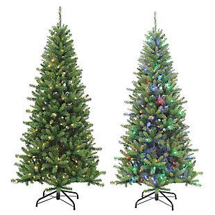 Sterling 7Ft. Pre-Lit Ozark Pine with 230 Dual Color Changing LED Lights, , large