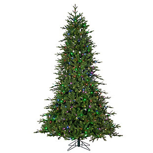 Sterling 7.5Ft. Remote Enabled Natural Cut Coastal Pine with 504 RGB Color Changing Lights and Power Pole Technology, , large