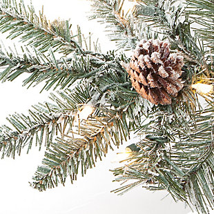 Sterling 7.5Ft. Lightly Flocked McKinley Pine with 650 clear lights, , large