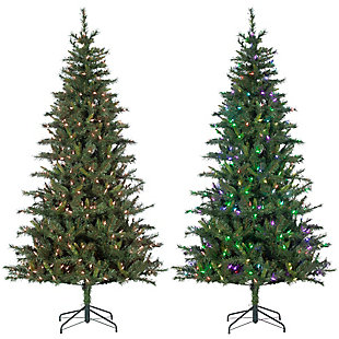 Sterling 7.5Ft. Hudson Pine with 400 RGB Color Changing LED Lights, , rollover