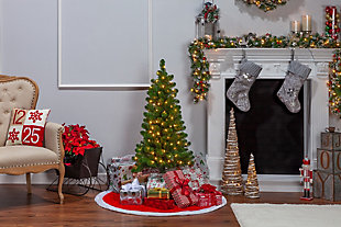 Sterling 48-Inch High Southern Pine Pre-Lit Tree with Clear White Lights, , rollover