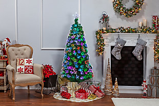 Sterling 6-Foot High Fiber Optic Color-Changing Tree, , rollover