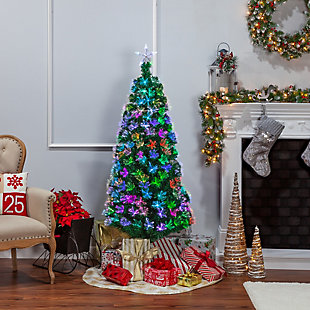 Sterling 6-Foot High Fiber Optic Color-Changing Tree, , large