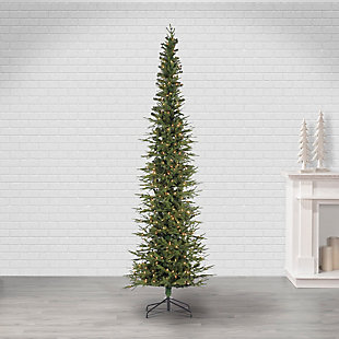 Sterling 9Ft. Natural Cut Narrow Lincoln Pine with 450 Clear Lights, , rollover