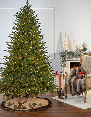 Sterling 9Ft. Natural Cut Del Mar Pine with 1200 Warm White Incandescent Lights, , rollover