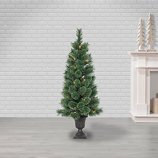 Sterling 3.5Ft. Potted Deluxe Hard Needle Cashmere Pine with 50 Clear Lights, , large