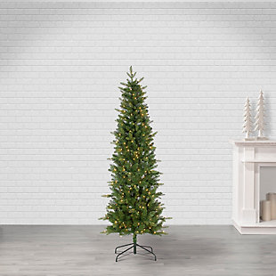 Sterling 6.5Ft. Natural Cut Narrow Saginaw Pine with 300 Clear Lights, , rollover