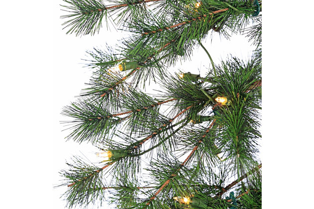 Sterling 6-Foot High Pre-Lit Alpine Tree with Clear White Lights, , large