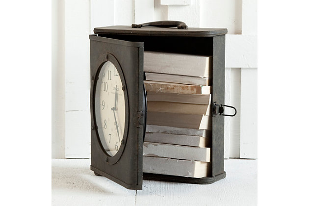 Decorative Table Clock With Storage To Keep Your Living Room Design Clutter Free