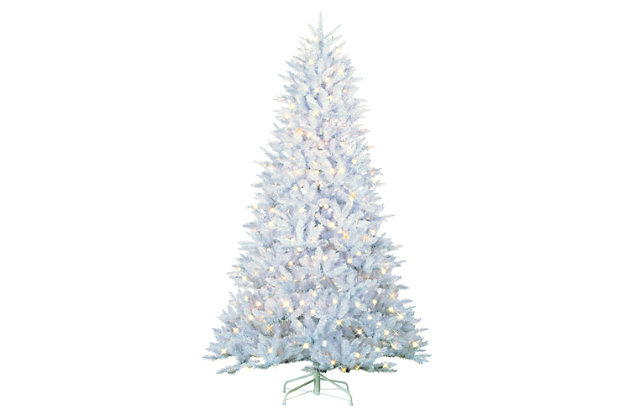 Sterling 7.5Ft. White Parkview Pine with 600 Color-Changing LED Lights, , large