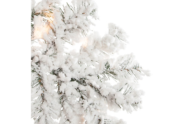 Sterling 7.5Ft. Heavily Flocked Layered Spruce with 550 clear lights, , large