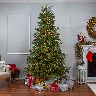 Sterling 9-Foot High Pre-Lit Natural Cut Portland Pine with Instant Glow Power Pole Feature, , large