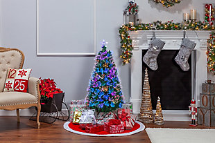 Sterling 4-Foot High Fiber Optic Color-Changing Tree, , rollover