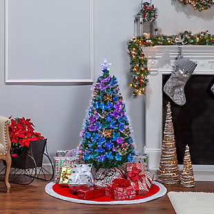 Sterling 4-Foot High Fiber Optic Color-Changing Tree, , large