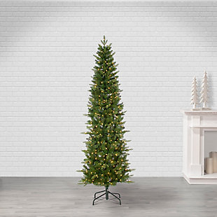 Sterling 7.5Ft. Natural Cut Narrow Saginaw Pine with 450 Clear Lights, , rollover