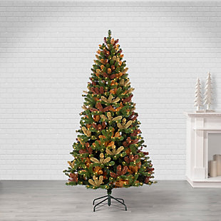 Sterling 7.5Ft. High Camouflage Tree with 600 Warm White Incandescent Lights, , large