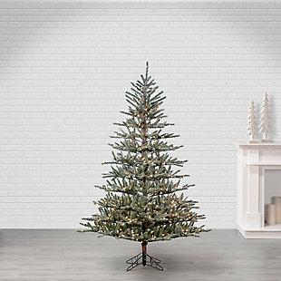 Sterling 7Ft. Flocked Scotch Pine with 450 Incandescent Lights, , large
